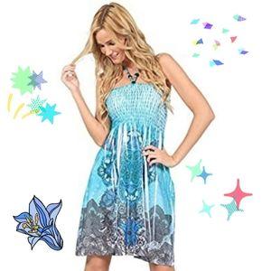 Ingear Bead Green Summer Tube Dress Size Large